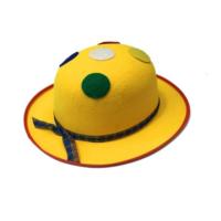 Toptancı Kapında Benekli Palyaço Şapkası - Sarı