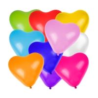 Hergunyeni Kalp Şekilli Renkli Balon 100 Adet