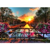 Ravensburger 196067 Amsterdam'da Bisiklet Puzzle (1000 Parça)