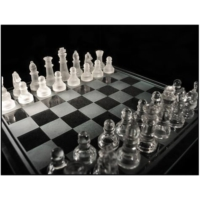 Original Boutique Glass Chess Cam Satranç Takımı (24.50 X 24.5 Cm)
