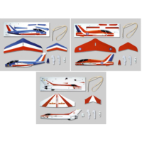 Combo 3 lü Set Serbest Model Uçak Alpha Jet+Red Arrows+F7EB