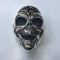 Partistok Cadılar Bayramı İskelet Maskesi Gümüş