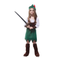 Partistok Peter Pan Kız Çocuk Kostümü M Beden