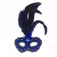 Partistok Tüylü Venedik Parti Maskesi Lacivert