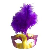 Partistok Tüylü Venedik Maskesi Mor