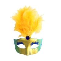 Partistok Tüylü Venedik Maskesi Mavi