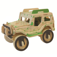 İdeal 3D Ahşap Maket Jeep