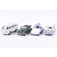 Welly Volksvagen Beetle - Volkswagen Microbus - 4'lü Set