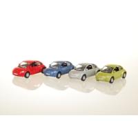 Welly Volkswagen New Beetle - 4'lü Set