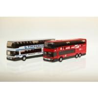 Welly Mercedes Çift Katlı Otobüs - 2'li Set