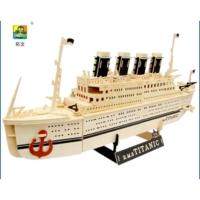 R.M.S Enhavalı Ahşap Titanik Gemi Maketi Büyük Boy
