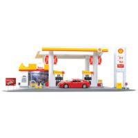 Rmz City Shell Petrol İstasyonu Maketi Işıklı Sesli
