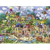 Heye Mutlu Şehir Puzzle (Rita Berman - 1500 Parça)