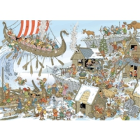 Jumbo Pieces Of History: Vikings, 1000 Parça Puzzle