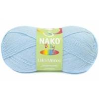 Nako Baby Lüks Minnoş Örgü İpliği 214 Ufuk Mavisi