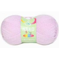 Nako Baby Lüks Minnoş Örgü İpliği 5090 Mine çiçeği
