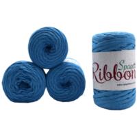 Spagetti Yarn Ribbon 4'lü Set Turkuaz Ribbon18