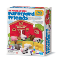 4M 3D Mould & Paint Farmyard Friends 4535