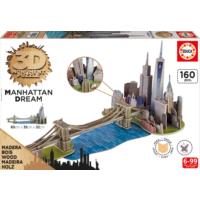 Educa Puzzle Manhattan Dream 3D Ahşap Puzzle