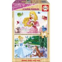 Educa Puzzle Disney Princesses 2 X 16 Parça Ahşap Puzzle