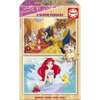 Educa Puzzle Disney Princesses 2 X 25 Parça Ahşap Puzzle