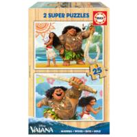 Educa Puzzle Vaiana 2 X 25 Parça Ahşap Puzzle