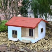 Greenmall Teraryum & Mini Bahçe İçin Ahşap Maket Ev - 4
