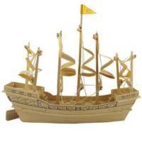 İdeal 3D Büyük Ahşap Maket Yelkenli