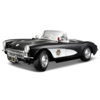 Maisto 1:18 1957 Chevrolet Corvette Police Model Araba S/E