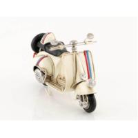 Mnk El Yapımı Eskitilmiş Metal Vintage Vespa Motorsiklet Kasklı 7936