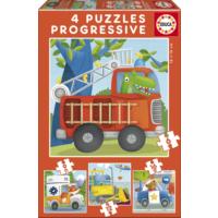 Educa Puzzle Rescue Patrol 6-9-12-16 Parça Progressive Puzzle