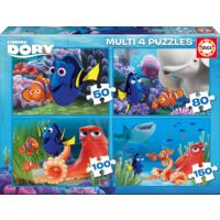 Educa Puzzle Finding Dory Multi 4 in 1 Puzzle