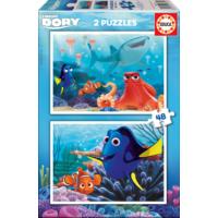 Educa Puzzle Finding Dory 2 X 48 Parça Karton Puzzle