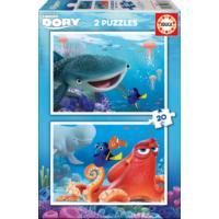 Educa Puzzle Finding Dory 2 X 20 Parça Karton Puzzle