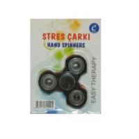 Kırtasiyebank Süper Hızlı Stres Çarkı Hand Spinners Deltoid Siyah