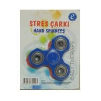 Kırtasiyebank Süper Hızlı Stres Çarkı Hand Spinners Deltoid Mavi