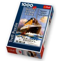 Trefl Puzzle 1000 Parça Titanic (Titanik) Puzzle / Trefl Puzzle White Star Line Titanic Retro Poster 1911