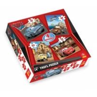 Trefl Cars Arabalar Puzzle 4 IN 1 / 4 Farklı Puzzle Bir Arada 35 48 54 70 Parça