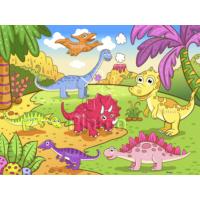 Pintoo Puzzle Neşeli Dinazorlar 48 Parça Plastik Çocuk Puzzle