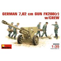Miniart 1/35 Ölçek Plastik Maket, Alman 7,62Cm Topu Fk288 (R) Ve Mürettebatı
