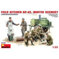 Miniart 1/35 Ölçek Plastik Maket, Kp-42 Saha Mutfağı, Kış Sahnesi