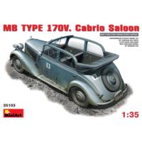 Miniart 1/35 Ölçek Plastik Maket, Mercedes Benz Typ 170V Cabrio Saloon