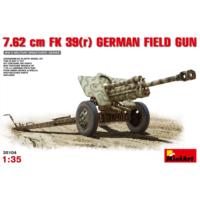 Miniart 1/35 Ölçek Plastik Maket, Alman Sahra Topu 7,62Cm Fk 39(R)