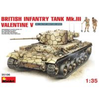 Miniart 1/35 Ölçek Plastik Maket, İngiliz Piyade Tankı Mk Iıı Valentine V