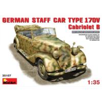 Miniart 1/35 Ölçek Plastik Maket, Alman Personel Aracı Mercedes Benz Typ 170V Cabriolet B
