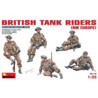 Miniart 1/35 Ölçek Plastik Maket, İngiliz Askerleri Tank Üzerinde