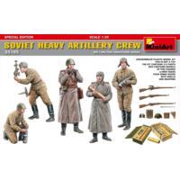Miniart 1/35 Ölçek Plastik Maket, Sovyet Ağır Topçu Mürettebatı, Silah Ve Mermili Özel Sürüm