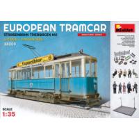 Miniart 1/35 Ölçek Plastik Maket, Avrupa Tramvayı, Mürettebatı Ve Yolcuları