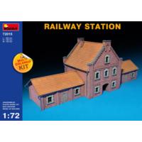 Miniart 1/72 Ölçek Plastik Maket, Tren İstasyonu, Renkli Kit