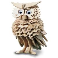 İdeal 3D Ahşap Maket Baykuş